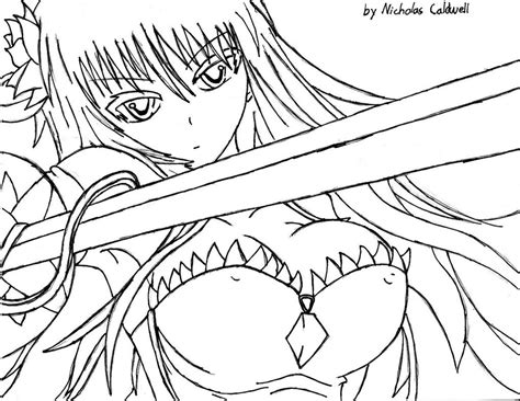 Anime Female Warrior Coloring Pages Coloring Pages Anime Warrior Coloring Pages