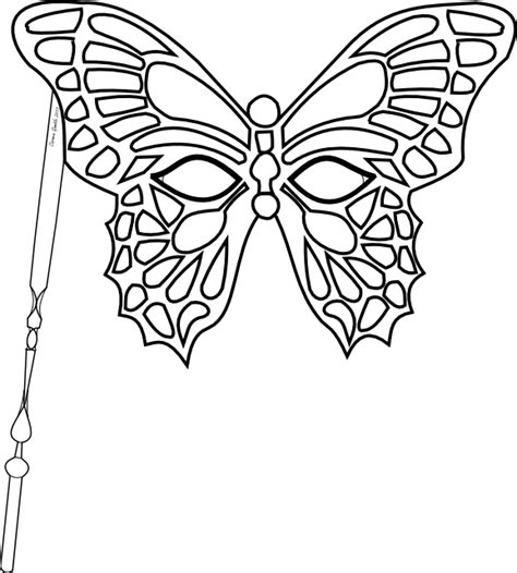 butterfly mask template masquerade mask coloring pages