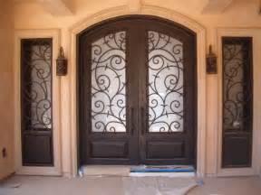 Front Doors With Wrought Iron Front Doors Creative Ideas