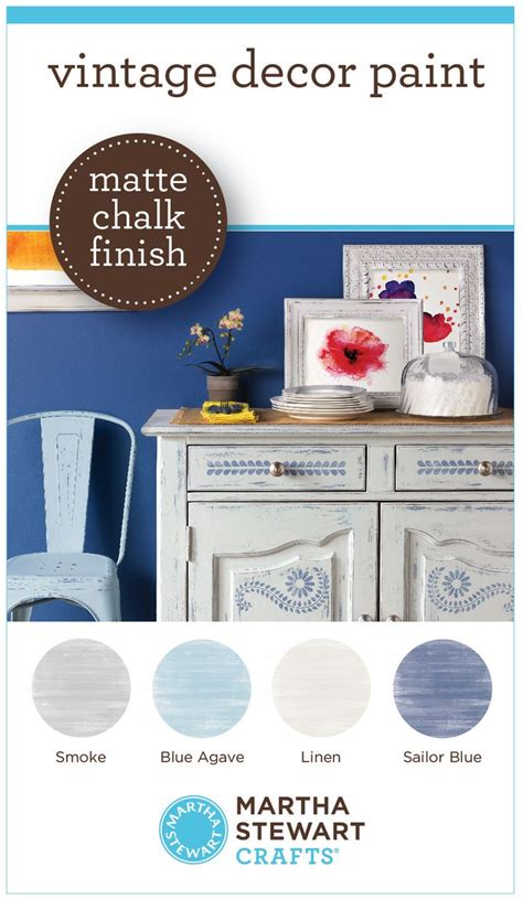 martha stewart vintage decor paint with a matte chalk finish diy distressed furniture diy