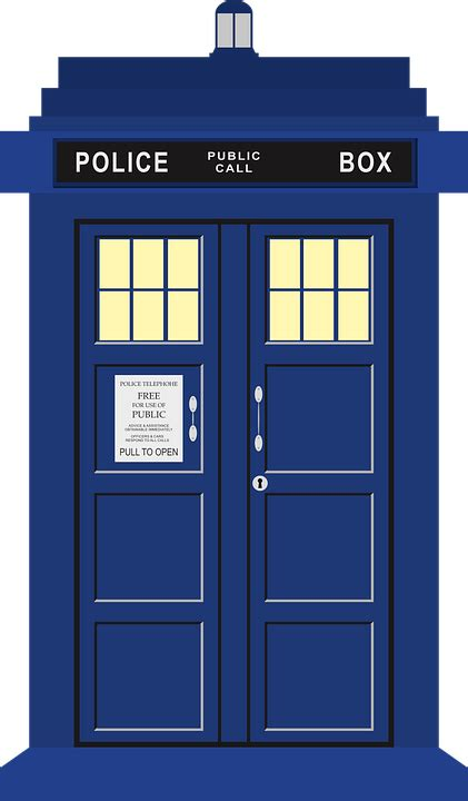 doctor who images free vector graphic tardis doctor who time travel