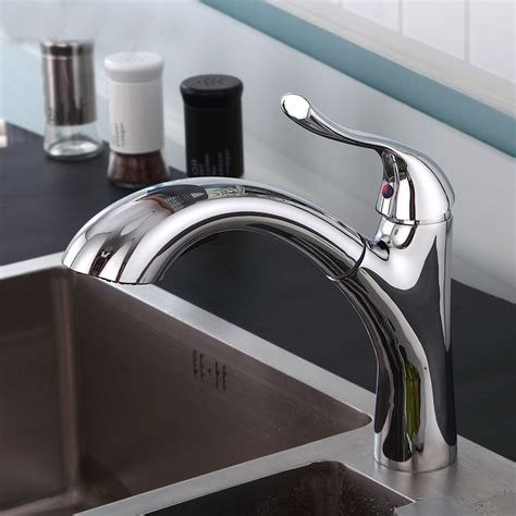 Sprayer For Kitchen Sink Canajoharie Brushed Nickel Finish Kitchen Sink Faucet With Pull Out Sprayer Funitic