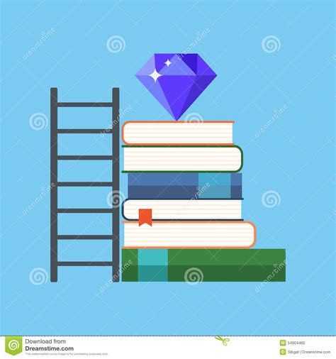 background knowledge design way to knowledge wealth concept flat design stock vector