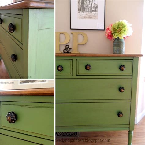 Painted Furniture Bedroom by Green Farmhouse Dresser Traditional Bedroom St Louis