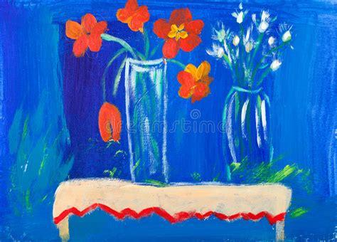 fiori nella pittura fiori nella pittura acrilica dei vasi da gale