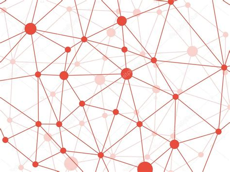 geometric network pattern rumpled triangular low poly style vine red geometric