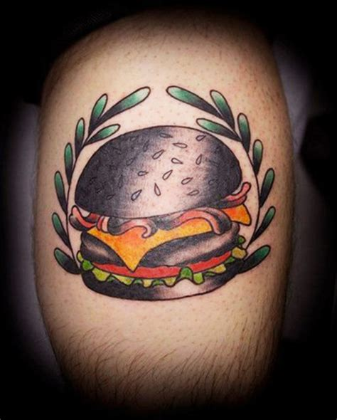 burger tattoo top burger drawing images for tattoos