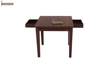Two Seater Dining Tables Mcbeth Storage 2 Seater Dining Table Set Walnut Finish