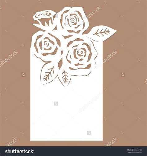 List For Letters With A Rose Template For Cutting Laser Cutting Template For Greeting Cards Laser Cut L Template