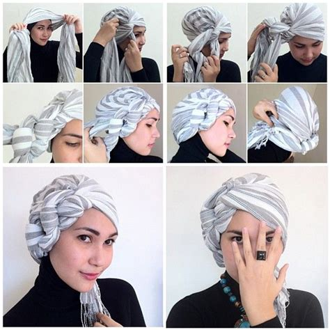 Tutorial Turban Bandana | turban tutorial scarf styles turban pinterest