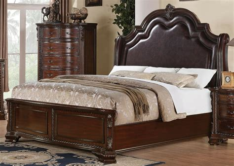 sensational traditional solid carved wood queen bed bedroom furniture ebay
