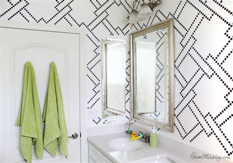 bathroom wall stencil ideas bathroom with wall stencils contemporary bathroom