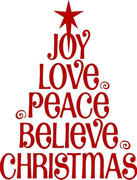 joy love peace believe christmas christmas trees