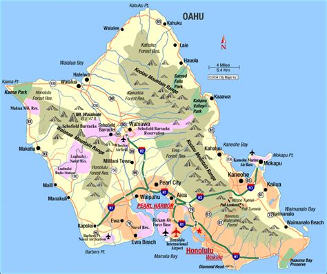 road map of hawaii road map of oahu honolulu hawaii aaccessmaps