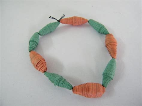 How To Make A Paper Bead Bracelet - how to make a paper bead bracelet crafts
