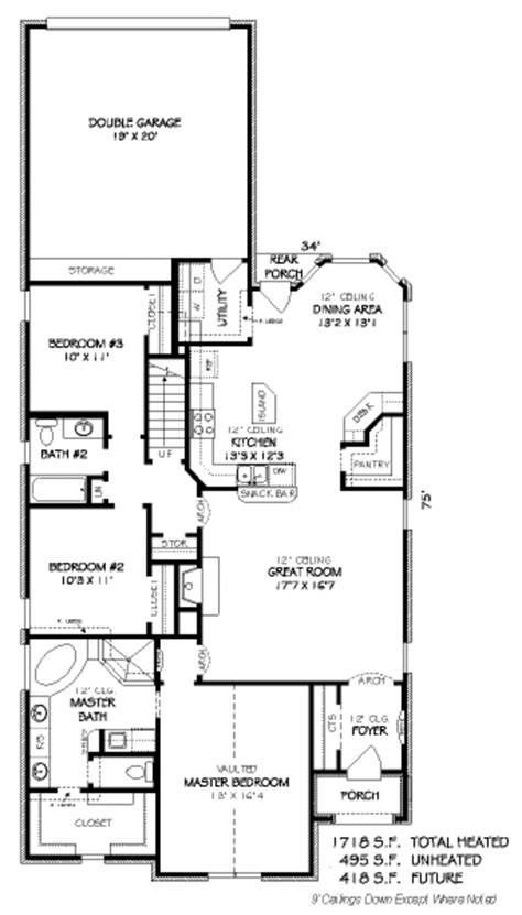 european style house plan 3 beds 2 baths 2147 sq ft plan european style house plan 3 beds 2 00 baths 1718 sq ft