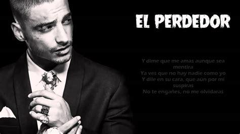 imagenes de maluma con frases el perdedor maluma video con letra reggaeton youtube