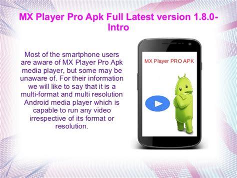 mx player version apk mx player pro apk version 1 8 0 1 copy