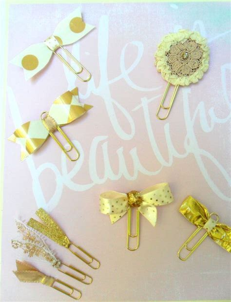 gold decorative paper clips wedding planner by