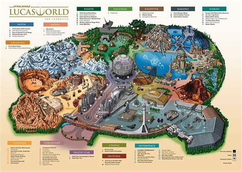 layout land star wars disneyland plan geek pinterest war stars