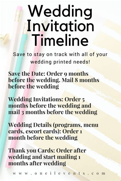 wedding invitation mailing timeline top 25 best timeline infographic ideas on