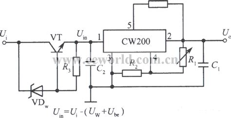 integrated circuit for high voltage high input voltage integrated regulated voltage power supply circuit with cw200 no 1 power
