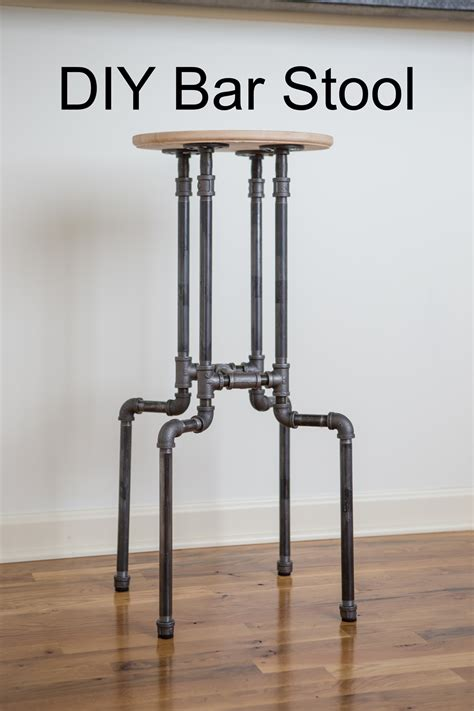How To Make A Bar Stool Out Of Wood by Diy Industrial Bar Stool Yogabycandace