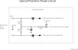phantom power microphone wiring and circuit diagram