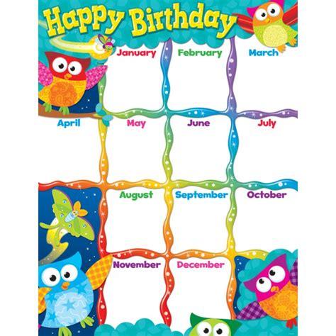Home Decor Bargains owl stars birthday chart