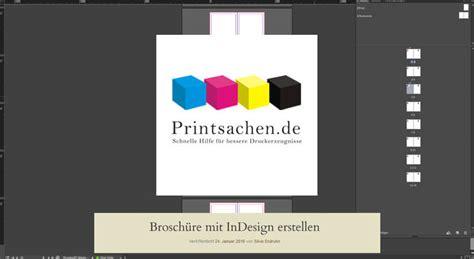 In Design Vorlage Brosch Re Brosch 252 Re Mit Indesign Erstellen Printsachen De