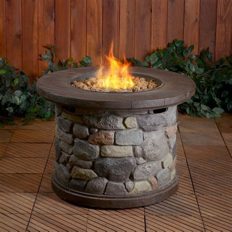 Uniflame Lp Gas Outdoor Firebowl With Granite Mantel Lp Gas Firepits