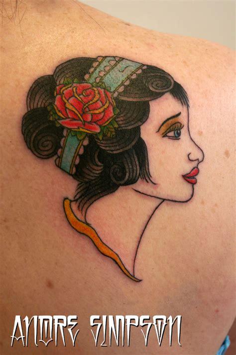 gypsy rose tattoos n on back of shoulder