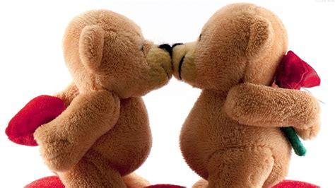 wallpaper of couple teddy bear teddy bears love kiss hd wallpaper stylishhdwallpapers