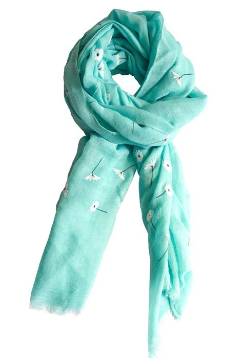 printed mint scarf from philadelphia by