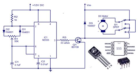 schematic wiring diagram dc motor controller circuit