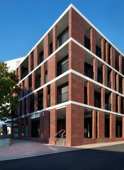 modern brick colonnade search library studios modern and bricks