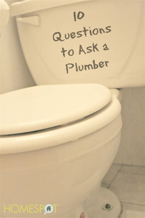 Plumbing Questions by Ten Questions To Ask A Plumber