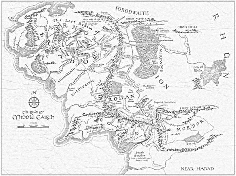 printable map middle earth inspired by lord of the rings embroidered map of middle