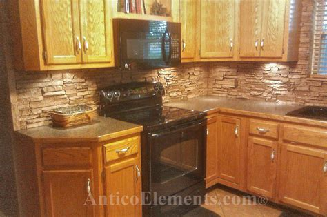 faux stone kitchen backsplash home improvement part 2