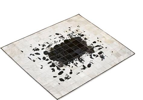 kuhfell teppich patchwork alma pura patchwork cowhide rug from black and white
