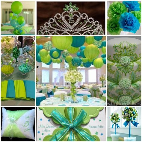 Lime Green Decorations by Turquoise And Lime Green Sweet Fifteen Theme Quince Candles