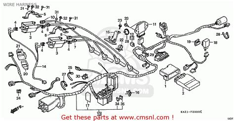 honda cbr250rr mc22 1994 r japan wire harness