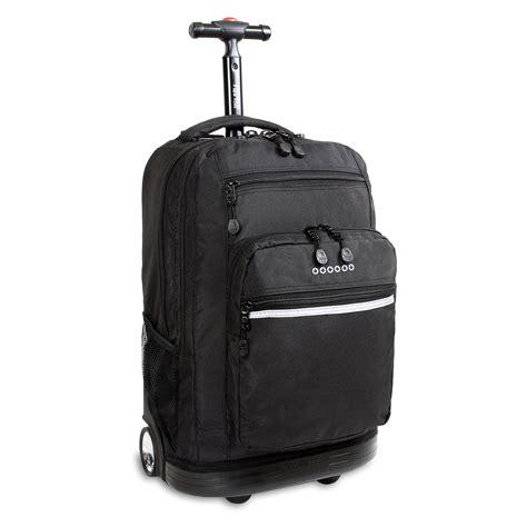rolling backpack  wheels school travel laptop bag kids