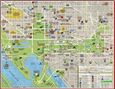 map of dc monuments map of dc monuments and museums pictures to pin on