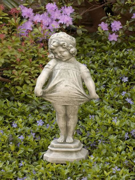 concrete figurine children garden statuary  patio