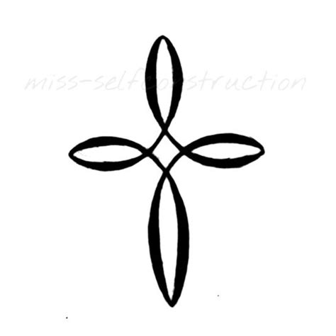 cross silhouette tattoo best 25 infinity cross ideas on cross