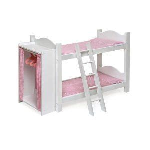 doll bunk beds with ladder and storage armoire american girl doll accessories some cool shit pinterest