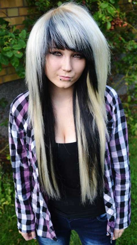 emo long hair hairstyles  haircuts lovely