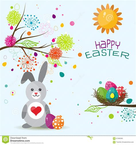easter greeting card template easter greeting card template vector
