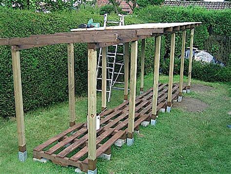 unterstand f r holzlagerung 1504 brennholz unterstand bauen holzlager f r brennholz
